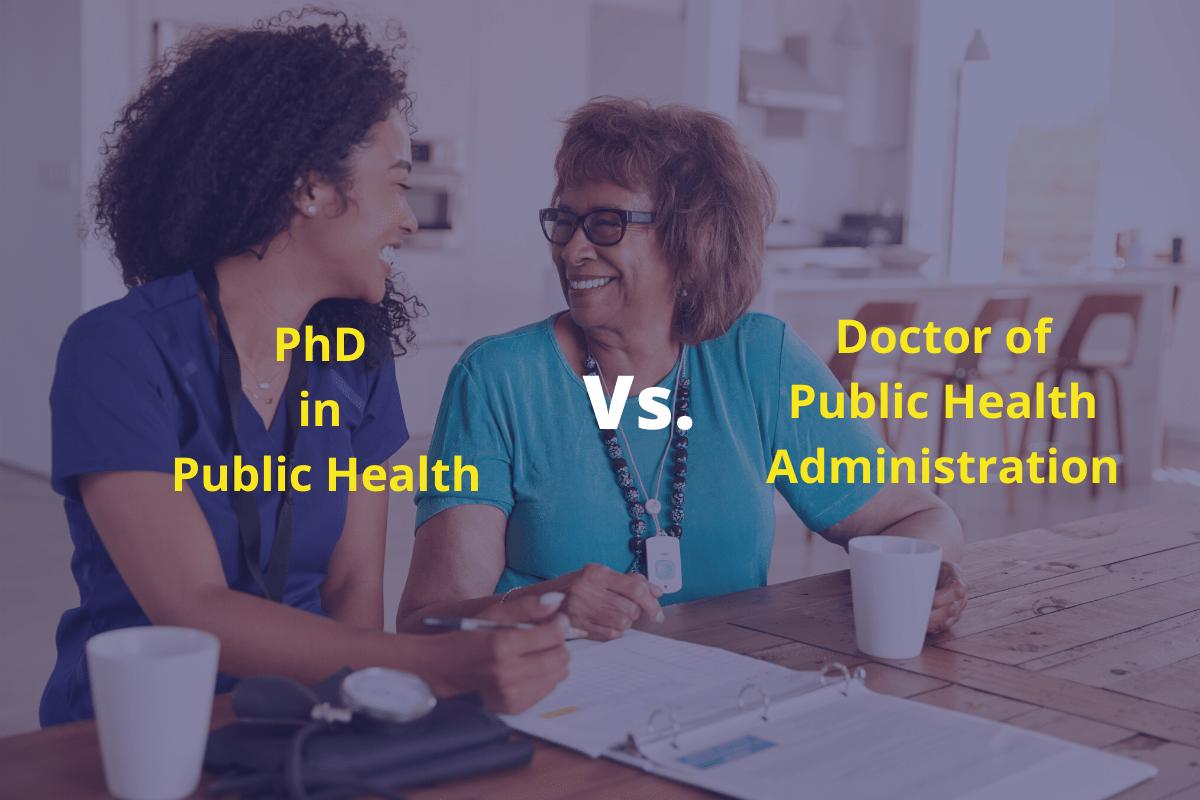 doctorat en santé publique vs doctorat en gestion de la santé publique
